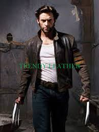 mens leather biker jacket x men wolverine origins biker brown real leather jacket trendy