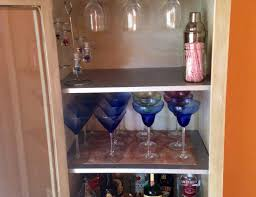 Glass Door Bar Cabinet Bar Diy White Liquor Cabinet With Glass Door And 3 Ample Shelves