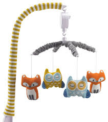 musical mobile fox owl contemporary baby mobiles by living 63