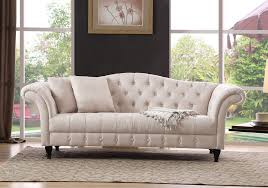 canapes chesterfield canapé chesterfield pas cher lila en tissu beige prix promo