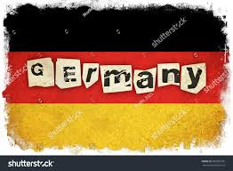 grunge flag germany german country text stock illustration