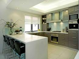 modern kitchen with white dining table also white kitchen island u