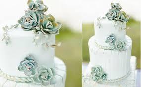 Wedding Cake Near Me Wedding Cakes With Mint U0026 Grey Foliage Cake Geek Magazine