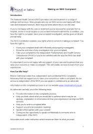 Complaints Letter To Hospital independent nhs complaints advocacy mind in salford mind in salford