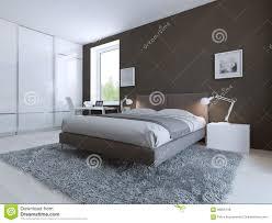 White Laminate Flooring Bedroom Minimalist Bedroom For Good Rest Stock Illustration Image 59250748