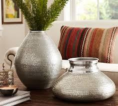 Tin Vases Salima Silver Vases Pottery Barn