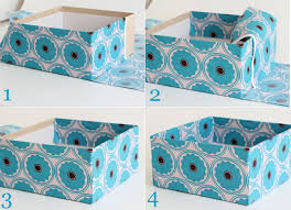 Decorative Hanging File Boxes Make A Fabric Storage Box Using Diaper Boxes Or A Bankers Box
