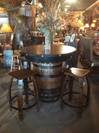 whiskey barrel bar table rustic pub table whiskey barrel pub table western bar whiskey