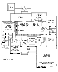 One Story House Plans Cathedral Ceilings Country Style House Plan 4 Beds 3 00 Baths 2124 Sq Ft Plan 929 46