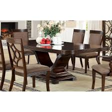 Dining Table Sets For 20 Furniture Of America Woodburly Contemporary Walnut Dining Table