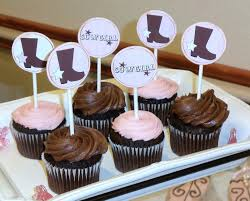 baby shower cupcake toppers hobby lobby pink cowboy boot cupcake