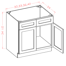 kitchen sink base cabinets sale shaker cinder sink base cabinet 30 w x 34 1 2 h x 24 d 2d 2fdr