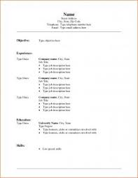resume template blank contract job fill scope of work free for