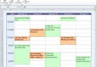 employee work schedule template excel and monthly employee