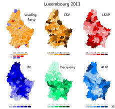 Map Of Luxembourg Luxembourg World Elections