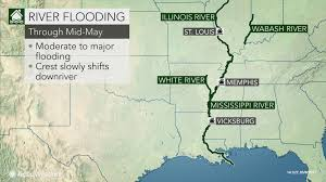 Map Of Major Rivers In The United States by Major River Flooding To Persist In Central Us This Week
