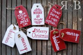 chunky wood tags ornament tags craft