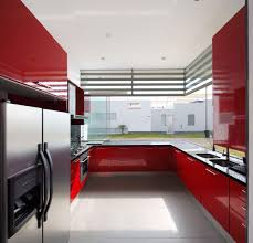 Red Kitchen Walls by Kitchen Awesome White Brown Wood Stainless Unique Design Modern