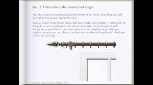 how to determine curtain rod length youtube