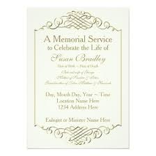 funeral invitation memorial service invitation cards business mate