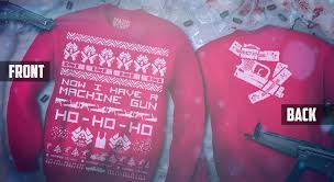 die sweater now i a machine gun ho ho ho sweater 44 cool