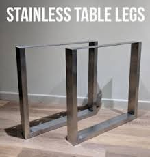 chunky wood table legs 2 x stainless steel metal table legs box chunky industrial