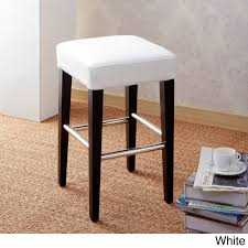 Counter Stool Backless 24 Inch Backless Counter High Stool In Genuine Leather By Cortesi