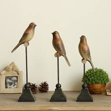 1pc resin bird figurine ornaments american country style creative