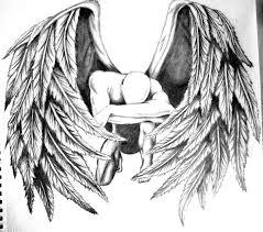 drawn sketch angel pencil and in color drawn sketch angel