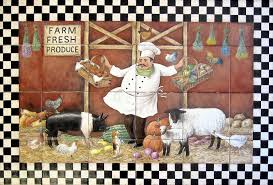 kitchen backsplash mural ranch farm country living rural lifestyle tile murals