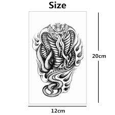 aliexpress com buy nu taty black cobra flash temporary tattoo