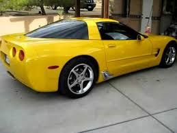 yellow corvette c5 yellow c5 corvette with corsa pro touring exhaust
