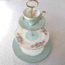 vintage china counts vintage china aqua blue cupcake stand or 3 tier