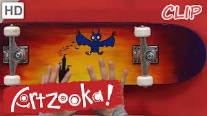artzooka u2013 halloween crafts for kids u2013 bat skateboard youtube