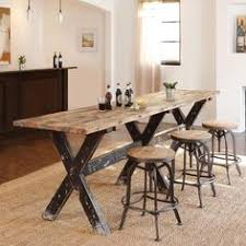 Chic Industrial Recuperada  Plazas Altura Poseur Barra Mesa - Kitchen bar tables