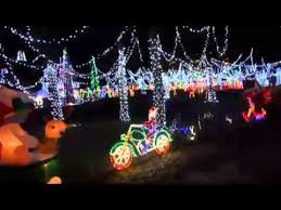 christmas lights longview tx carmela s mini santa land 2014 youtube