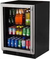 beverage cooler with glass door under cabinet beverage refrigerators aj madison