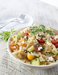 mediterranean pasta salad the chunky chef