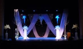 stage decor for the wedding fashion show chalet floral events