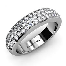 wedding rings melbourne madeline diamond wedding ring 3 rows 0 53 carats