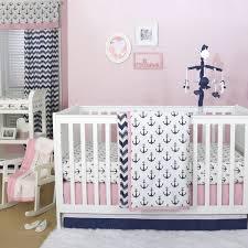 sail away crib starter set in pink u0026 navy