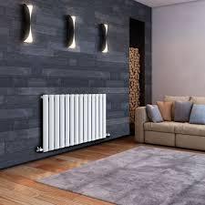 modern kitchen radiators revive white horizontal single panel designer radiator 25