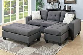 Abbyson Sectional Sofa Grey Fabric Sectional Sofa Light Gray Abbyson Living Beverly