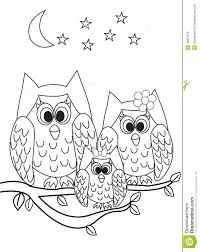 coloring page book owl stock illustration image 49681975