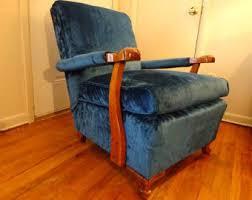 velvet chair and ottoman blue velvet chair etsy