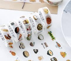 masking cuisine fashion japanese food paper masking decoration stationery
