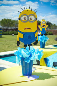 minions centerpieces minions birthday party ideas photo 28 of 49 catch my party
