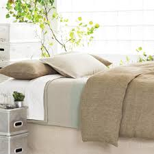 bedroom beige pine cone hill bedding with white pillows for