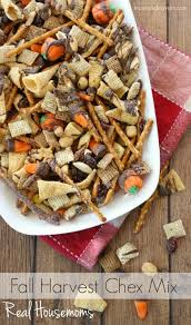 fall harvest chex mix real housemoms