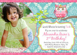 Shabby Chic Online Stores by Shabby Chic Owl Birthday Photo Invitation Printable Just Click